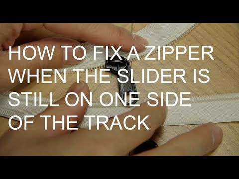 www.ucanzippers.com DIY tutorial on how to fix a zipper when it's on one side of the track or chain. Please Subscribe and Like this video if you found it hel...