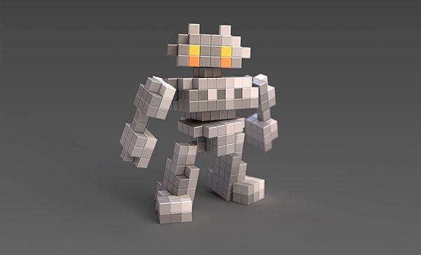 Pixel Robot on Behance