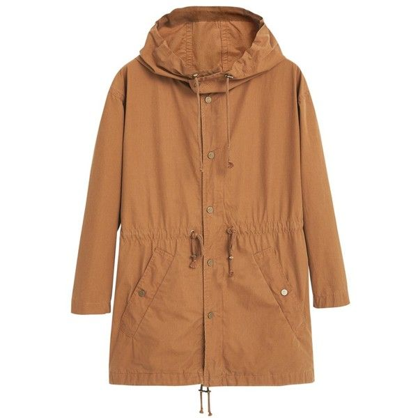 See this and similar MANGO coats - Opt for a utilitarian aesthetic with this Hooded Trench Coat from Mango. Crafted from soft crisp cotton, this casual layer fe...