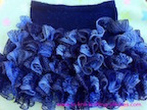 How To Attach Ruffles To A Skirt Using Sashay Yarn - Knitting & crochet Instruction - YouTube