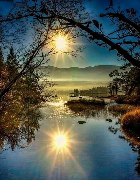 Sunrise at Loch Morlich