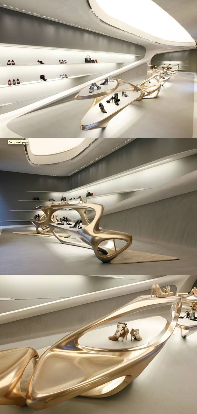 17 best images about r e t a i l store design on pinterest for Office design zaha hadid