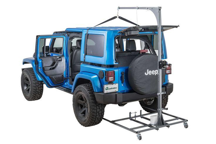 Lange Originals® Hoist-A-Cart for 07-16 Jeep® Wrangler & Wrangler Unlimited JK   Quadratec