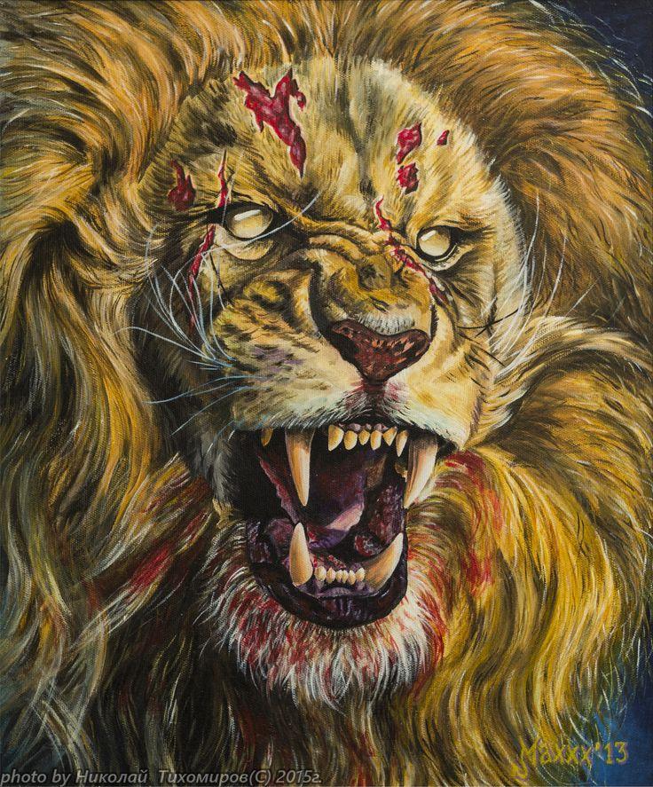 Крутые картинки львов когда лев кричит
