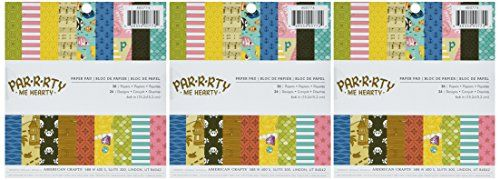 American Crafts Imaginisce Party Me Hearty 6 X 6 Inch 36 Sheet Paper Pad -- Check out this great product.Note:It is affiliate link to Amazon.