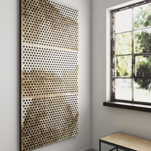 Acoustic panels with steel front from Kosmonaut #acousticboard #danishdesign  #industrialstyle #rawinterior #walldecor #acousticpanels