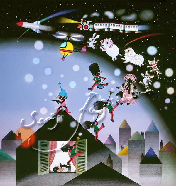 藤城清治(Seiji Fujishiro) 「おもちゃのチャチャチャ」