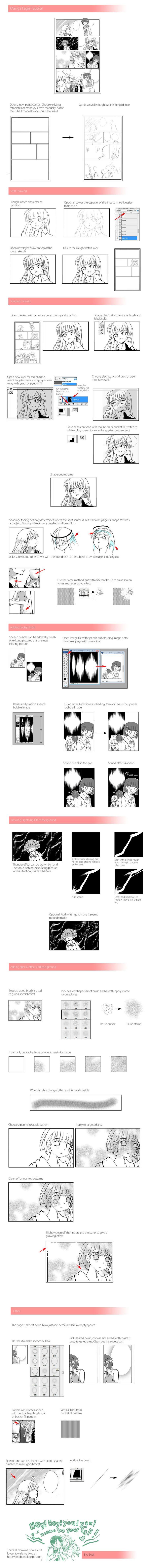 Manga page Tutorial by ~airibbon