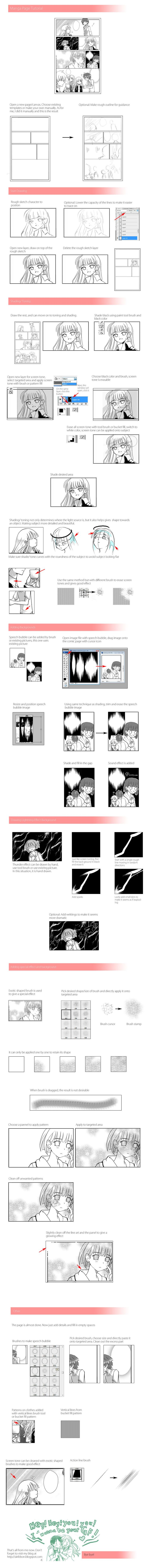 Manga page Tutorial by ~airibbon