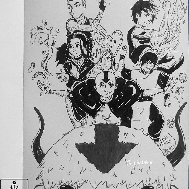 Avatar Doodle  i'm so fucking love first Avatar season, the most outstanding animation of my childhood.  .  #sketch #sketcheveryday #drawing #instaart #pencildrawing #artist #inking #ink #inkdrawing #lineart #traditionalart #sketchbook #illustratorsofinstagram #quicksketch #diy #nostalgic #doodles #childhood #desenhando #rabisco #desenh4ndo #avatar #avataraang #katara #zuko #sokka #toph #appa #momo