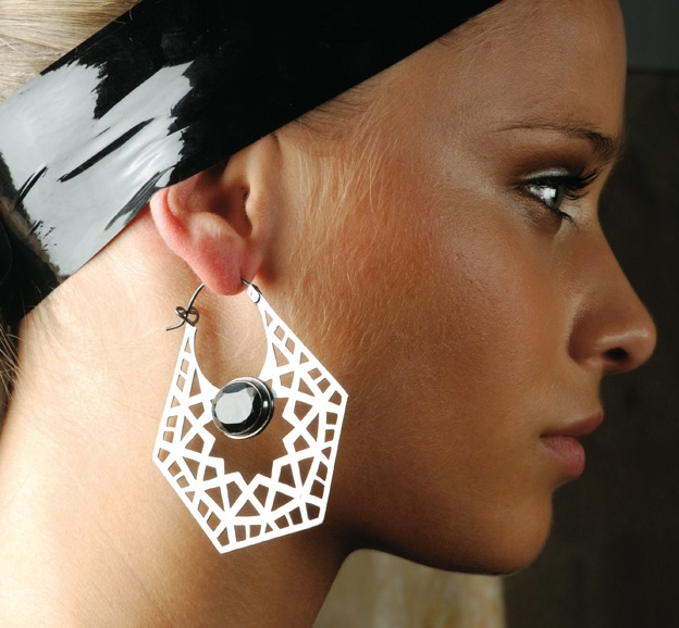 Azza Fahmy for Julien Macdonald Silver Earring