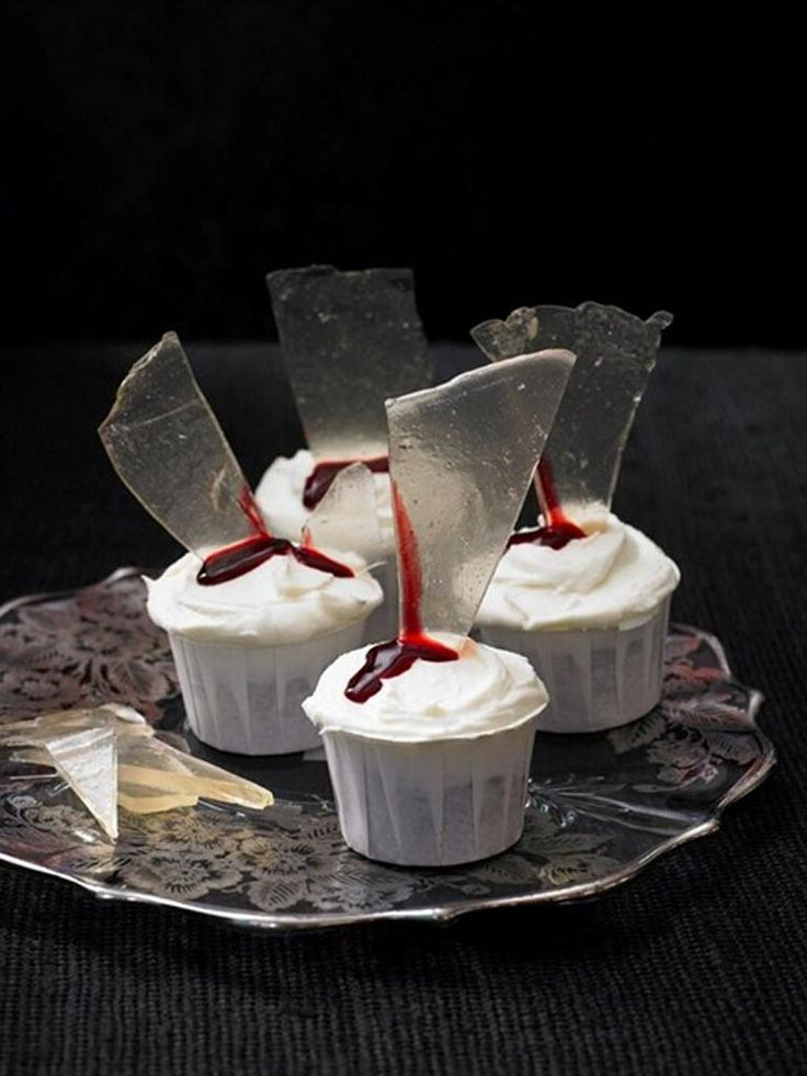 halloween baking sugar glass by - Scary Halloween Cupcake Ideas