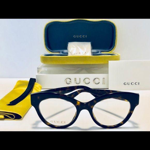 06bff74a577 Gucci Eyeglasses Havana Brown Cat Eye New 49mm Brand New! 100% Authentic! Gucci  Eyeglasses GG0030O 002 Dark Havana Rx-Able Frame Size  48-19-140 Demo Lens  ...