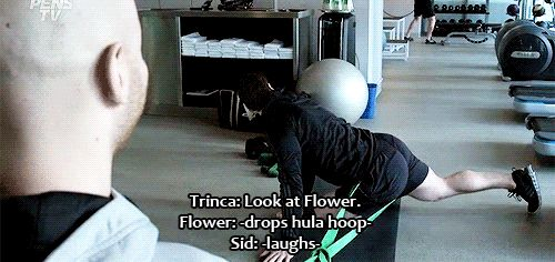 Flower trying to hula hoop