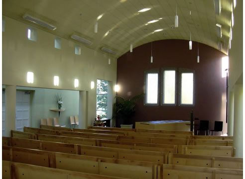radiant heat panels church Devex overhead #heating panels for gentle #warmth