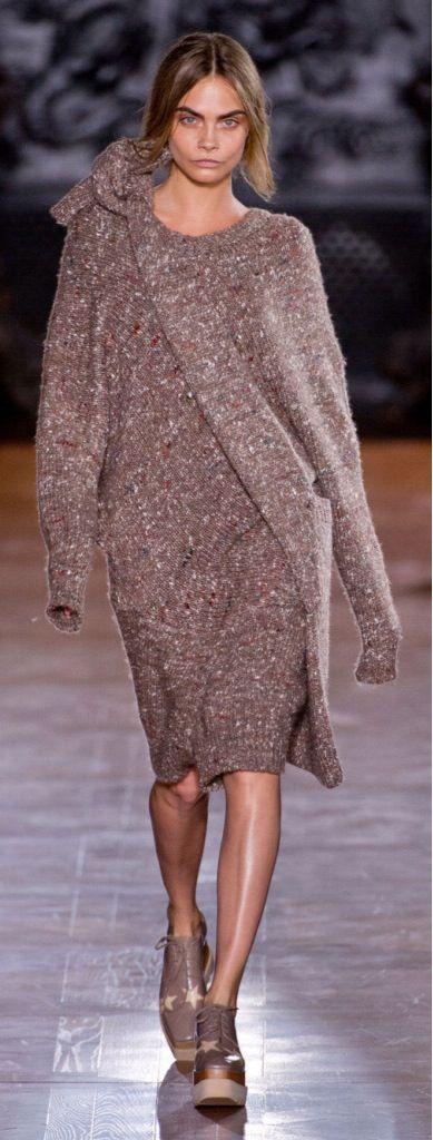 Stella McCartney - F 14 - sweater dress with matching hip bag.