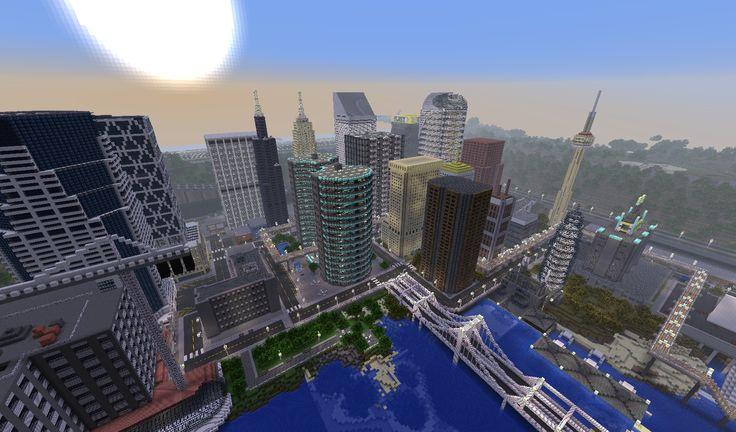 minecraft towns   ... ville : Newcraft – Vecter – Novax City   Minecraft Aventure 1.6.2
