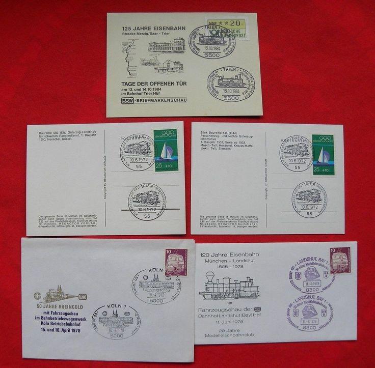 Briefmarken Eisenbahn * Ersttagsbriefe 1978 * Postkarten 1972 und 1984sparen25.com , sparen25.de , sparen25.info