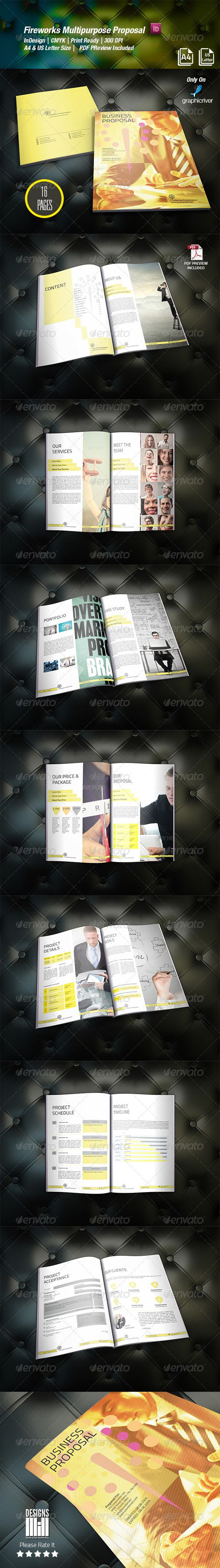 #Fireworks #Multipurpose Proposal  - #Proposals & #Invoices #Stationery Download here:  https://graphicriver.net/item/fireworks-multipurpose-proposal-/8373581?ref=alena994