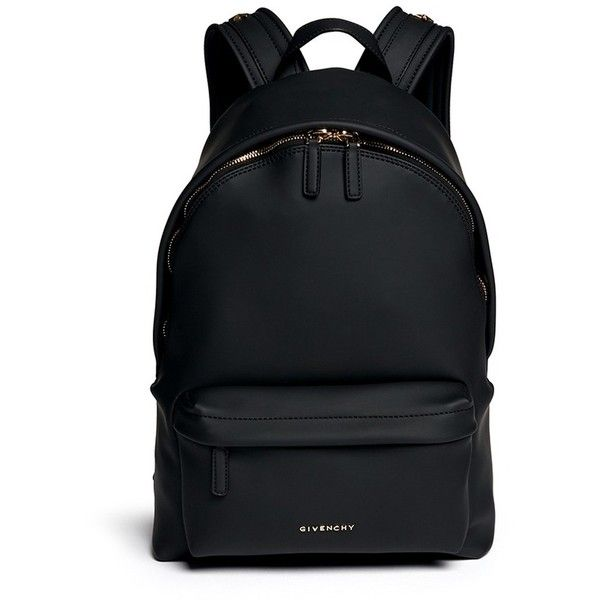 Givenchy Rubberised leather backpack ($1,405) ❤ liked on Polyvore featuring bags, backpacks, mochilas, accessories, black, givenchy backpack, genuine leather backpack, leather backpack bag, black leather knapsack and black bag