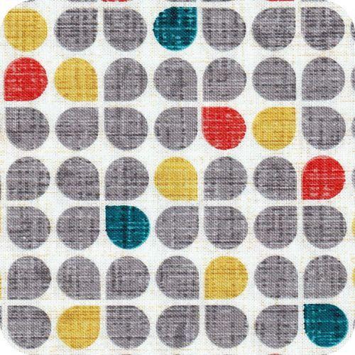 Tissu motif scandinave Retro clover grey