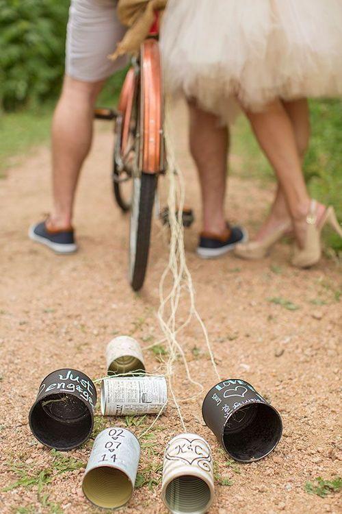 Idea original para bodas de parejas ciclistas! Alicia Pyne Photography