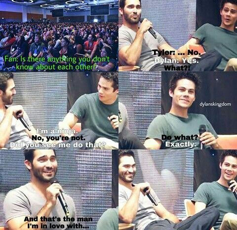 ❤ :) #sterek #interview I actually ship the two actors not the charectors!