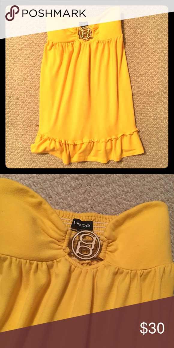 Yellow bathing suit coverup Yellow bathing suit coverup, perfect for summer! bebe Swim Coverups