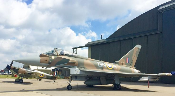 The Air Tattoo team was delighted to be at the official launch of The Battle of Britain 75th anniversary Typhoon and Spitfire synchro pair at RAF Coningsby today with 10 lucky FRIAT MACH 3 members! - Looking forward to seeing them in the air at the Air Tattoo in July!