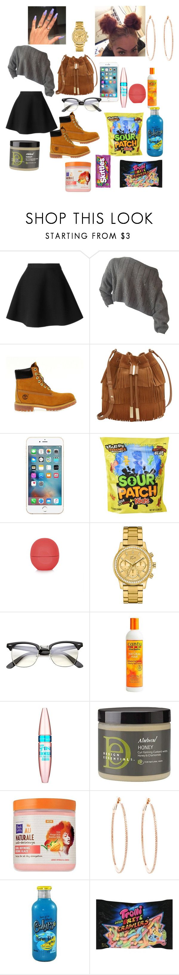 """I Don't Belong To YouX KekePalmer"" by baby-crooksanford ❤ liked on Polyvore featuring MSGM, Timberland, Vince Camuto, Topshop, Lacoste, Maybelline, Design Essentials, Dark & Lovely and Rosa de la Cruz"