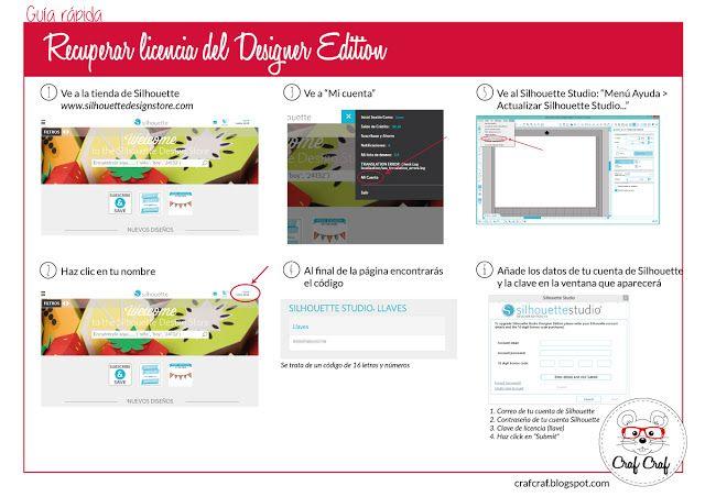 Craf Craf: Guía Rápida - Recuperar clave del Silhouette Studio Designer EditionCraf Craf