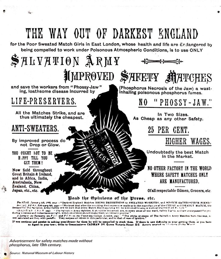 the way out of darkest England…… save the workers from Phossy Jaw