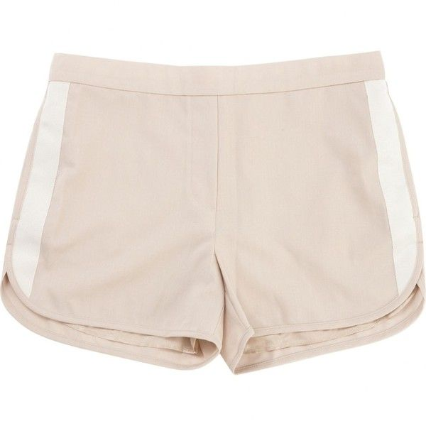 Pre-owned Tommy Hilfiger Beige Wool Shorts ($131) ❤ liked on Polyvore featuring shorts, beige, women clothing shorts, tommy hilfiger shorts, tommy hilfiger, wool shorts and beige shorts