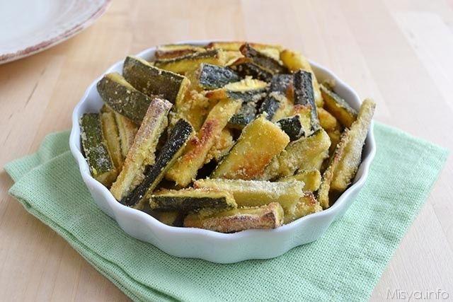 » Zucchine croccanti al forno Ricette di Misya - Ricetta Zucchine croccanti al forno di Misya