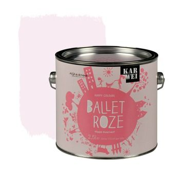 KARWEI Happy Colours muurverf mat ballet roze 2, alles voor je klus om je huis & tuin te verfraaien vind je bij KARWEI
