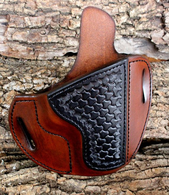 Custom Leather Holster for S/W M and P with by TinBadgeLeather, $99.00