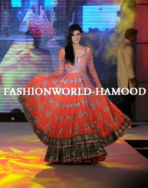 Manish Malhotra CPPA Collection. Ignore everything else. Look at bottom border with black background and gold motif on ANARKALI (not bottom of lehnga).