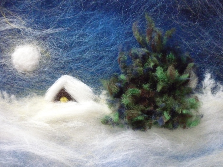 Wool picture tutorial. Felted tapestry (can use as thermal window and door cover in winter)