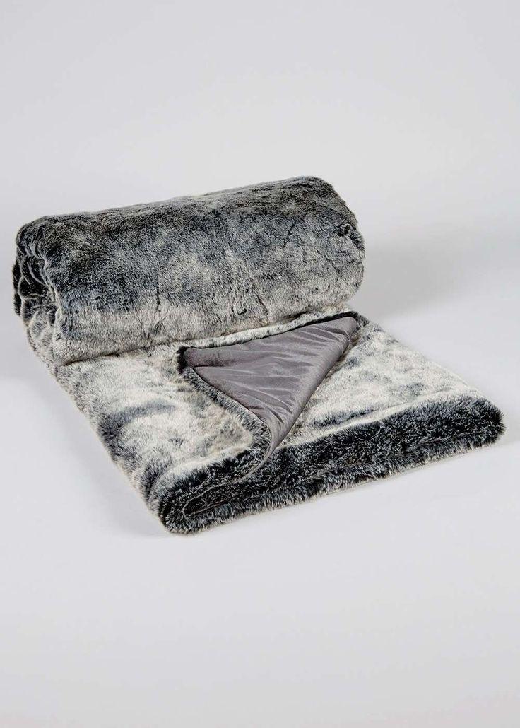 Luxury Faux Fur Throw (180cm x 150cm) View 1