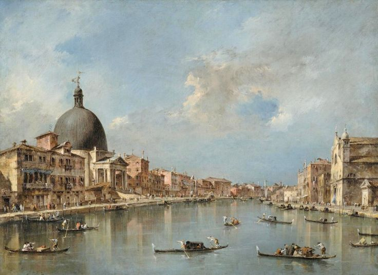Francesco Guardi – Philadelphia Museum of Art - The Grand Canal with San Simeone Piccolo and Santa Lucia (c. 1780)