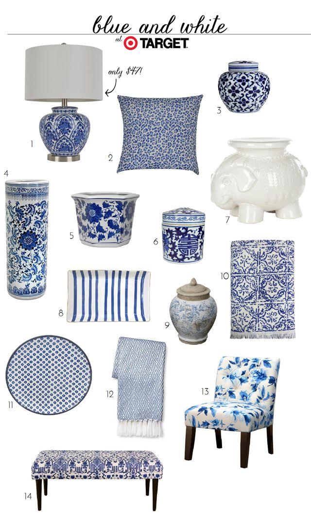 25 best ideas about blue and white on pinterest blue and striped chair and traditional Target blue home decor