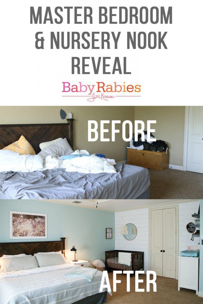 Master Bedroom with Nursery Nook | BabyRabies.com