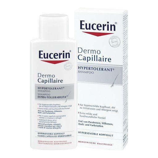 EUCERIN DermoCapillaire hypertolerant Shampoo - Das DermoCapillaire Hypertolerant Shampoo beruhigt hypersensible Kopfhaut und reinigt sie besonders schonend. Juckreiz wird von der ersten Anwendung an gemindert. Das Haar erhält Volumen, Glanz und Geschmeidigkeit.