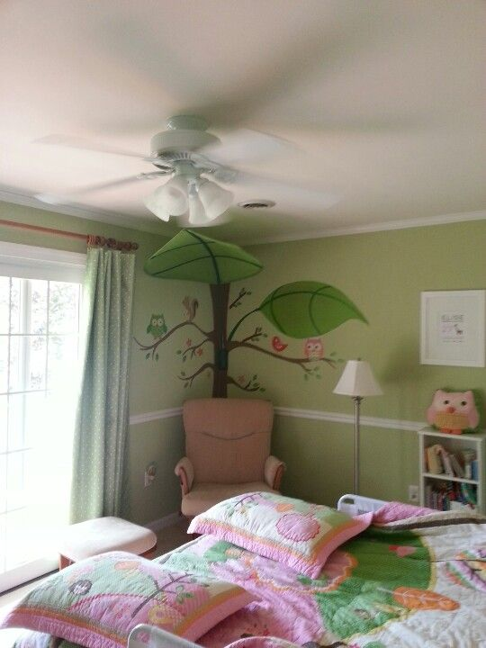 My First Pin That I Actually Created Elise S Reading Corner 3d Leaf From Ikea And Owl Decals