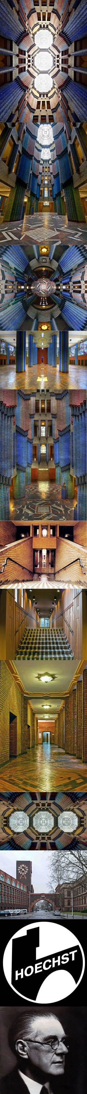 1920-1924 Behrens - Hoechst Technical Administration Building / Technisches Verwaltungsgebäude / Peter Behrens Bau / Frankfurt / brick expressionist / Germany / expressionism