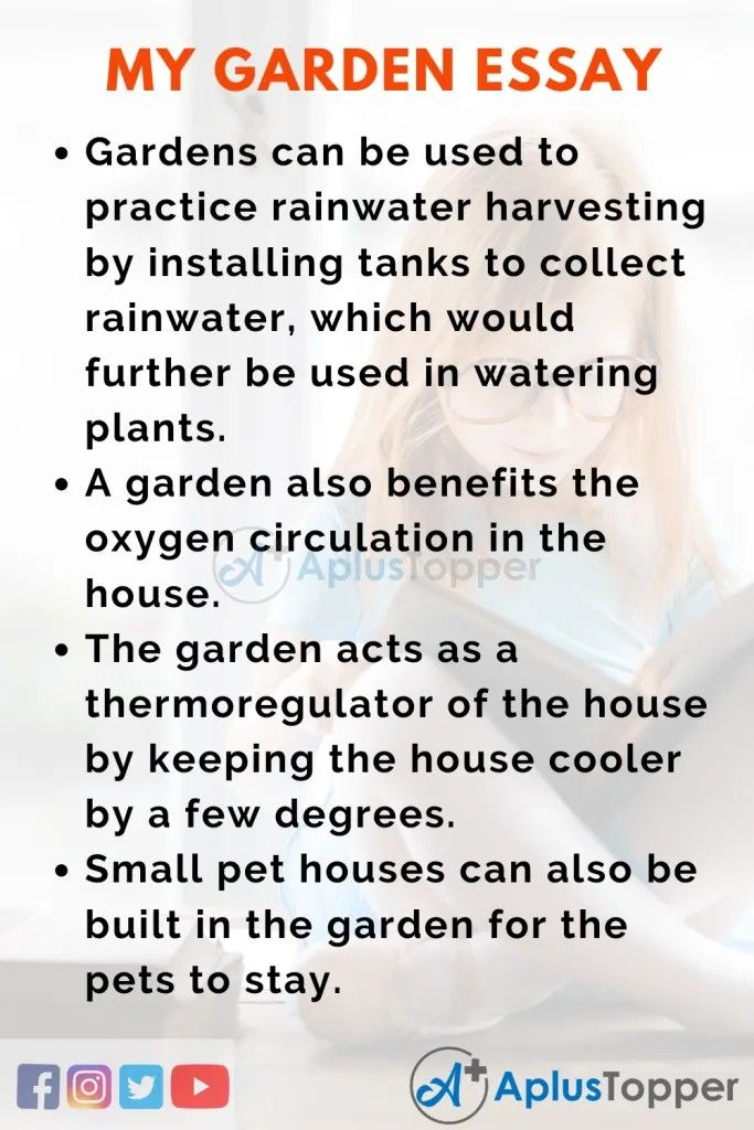 Mygardenessay Essayonmygarden Aplustopper In 2020 Essay Rain Water Collection Water Plants