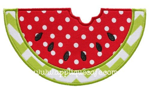 648 Watermelon 2 Machine Embroidery by AppliqueCafeDesigns on Etsy