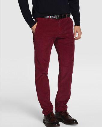 Pantalón de hombre de pana morado