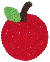 Apple Coaster | AllFreeCrochet.com