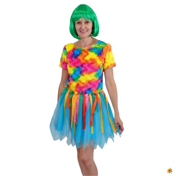 kostuem paradiesvogel kleid bunt kleider bunt tierkostuem